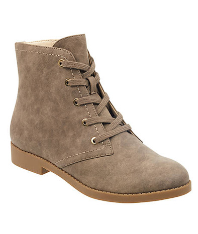Biege Abelly Lace-Up Bootie.