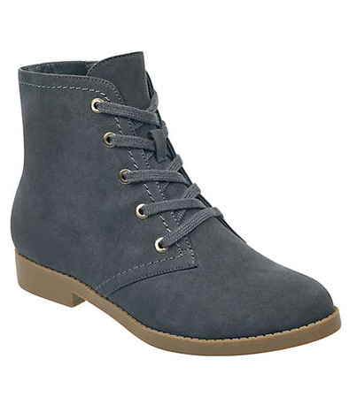 Grey Abelly Lace-Up Bootie.