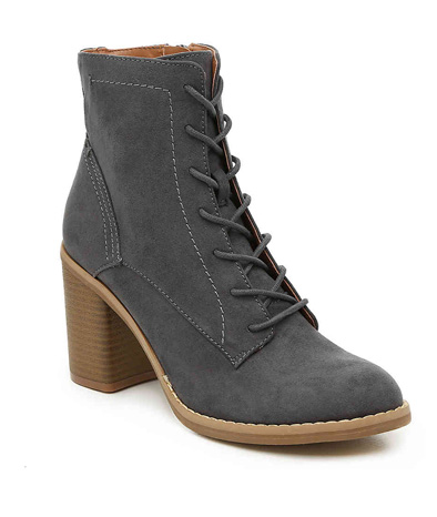 Charcoal Fabre Bootie.