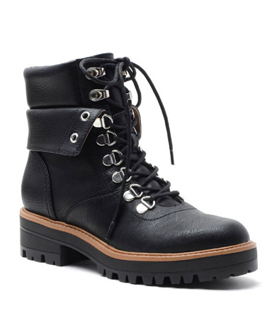 Black Isaya Lace-Up Hiker Boot.