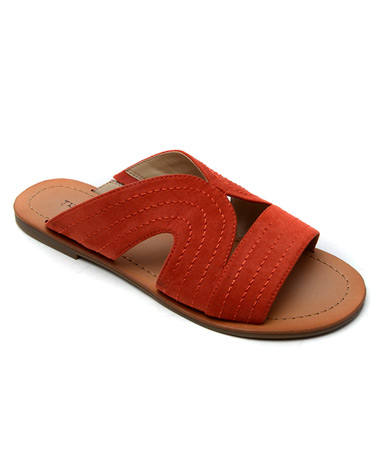 Bayron2 Sandal in Orange.