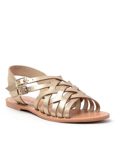 Brieg sandal in gold.